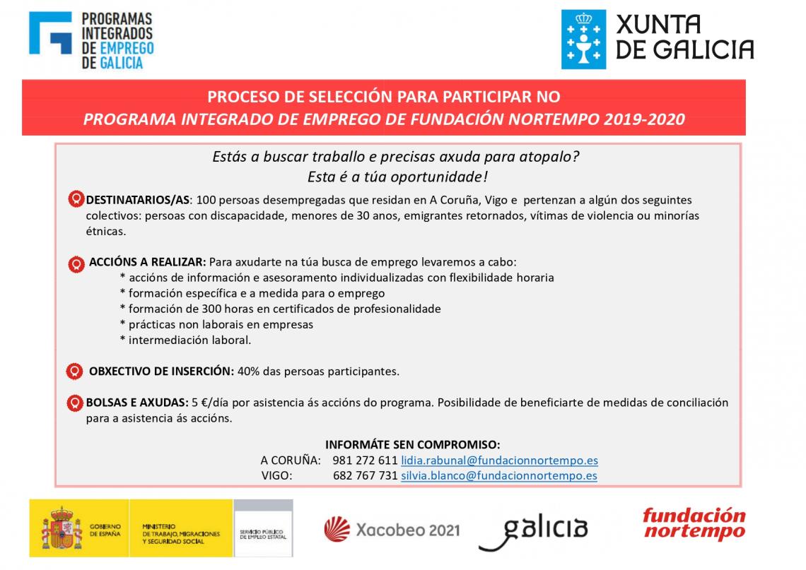 Programa integrado de emprego 2019/2020